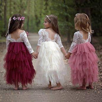 2018 Summer Girls Fashion Lace Princess Dress Children Tutu Dress Backless Lovely Dress | Wish