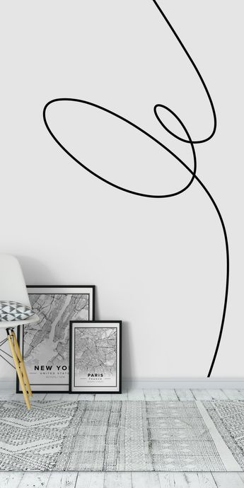 One Line Study 5 Wall mural