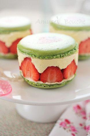 Macarons fraisier