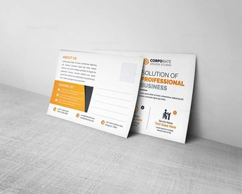 Professional Postcard Template - Graphic Templates