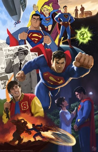 Mythologies: Superman from Mauricio Abril Art