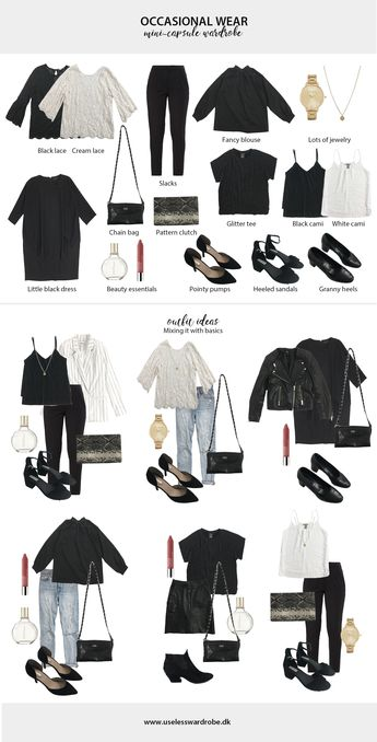 Your failsafe guide on how to build a mini-capsule wardrobe of occasional wear.