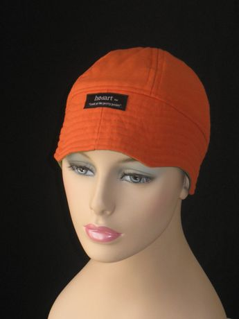 b071bc3e015 Chemo Hats for Hair Loss or Caps for Cancer  Orange with by hedart