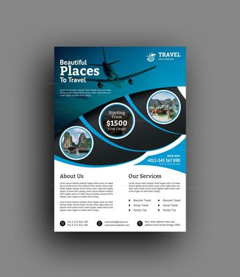 Versatile Travel Agency Flyer Design Template - Graphic Templates
