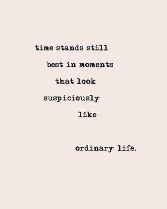 ordinary life.