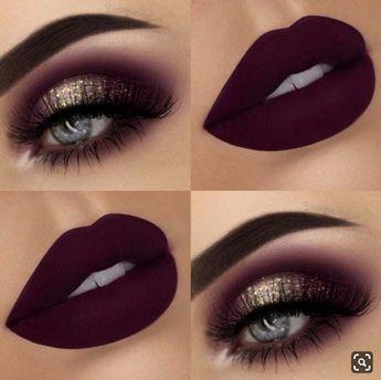 Ce maquillage d'un rouge extrême vous ravira...