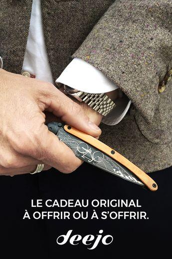 Vous recherchez un couteau raffiné ? Deejo est là pour vous. Offrez un cadeau unique, et personnalisable 🎁
