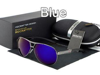 0a7de4c00a HDCRAFTER pilot sunglasses men polarized uv400 high quality classic retro  men sun glasses for male brand