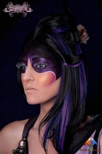 Zipper face galaxy inspired look   possible halloween make