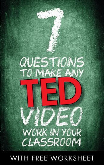 Bring TEDTalks to your classroom • Advice & free worksheet #highschool #middleschool #education #school #free #subplan #flippedlesson