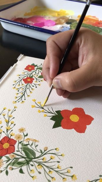 See more satisfying, relaxing, and inspiring videos on YouTube. Gouache Painting little flowers. Grab your paints to follow along or zen out to these soothing videos to help any anxiety.