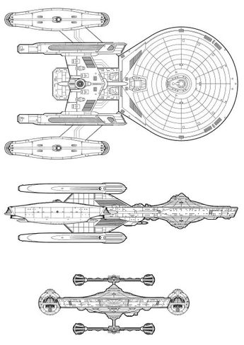 Uss Enterprise Ncc 1701 B Exterior Schematic