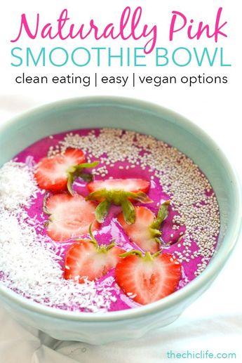 Healthy Strawberry Pitaya Bowl