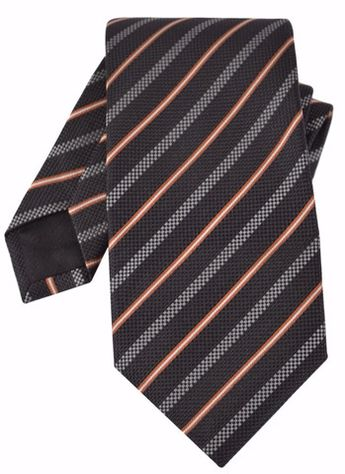 9b38dff89fe0 NEW Gucci Men s 349389 Black Beige Woven Silk Striped Neck Tie