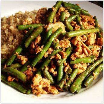 Asian Ground Turkey and Green Bean Stir-Fry