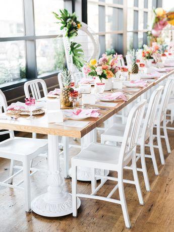 tropical pineapple barbie bridal shower tablescape jordan galindo photography details darling