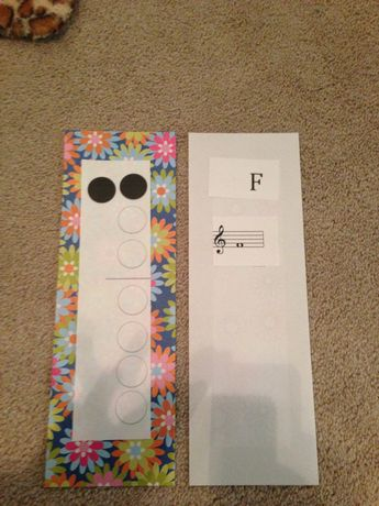 Recorder flash cards -fingering on front /letter and staff notation on back ..will laminate