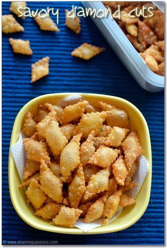 Savory Diamond Cuts Recipe - Spicy Maida Biscuits