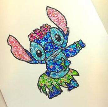 Product Disney Stitch Picture. Stitch Button Art. Kids Bedroom Decor. Disney  Gift. Lilo