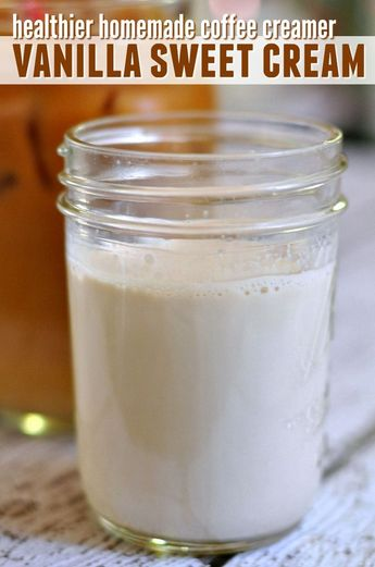 Vanilla Sweet Cream Coffee Creamer - Coffee Creamer - Ideas of Coffee Creamer #CoffeeCreamer - Tired of shelling out cash for a cold brew coffee thats full of additives? Learn how you can make a healthy version of Starbucks Vanilla Sweet Cream Cold Brew Coffee at home. No refined sugar or junk ingredients!