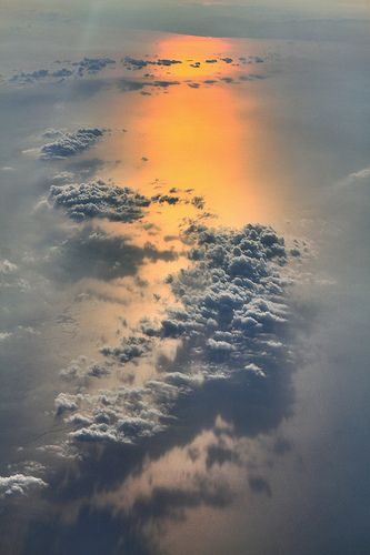 Sunrise from 28,000 feet in the air