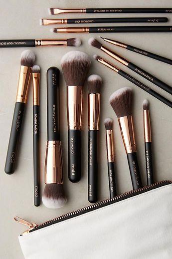 M.O.T.D. Lux Vegan Makeup Brush Set #makeup #cosmetics #beauty #fashion #style #brush #brushes #set #blend