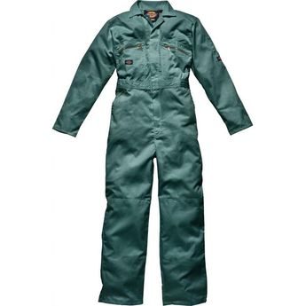 Mens Dickies Redhawk Coverall Overalls Boiler Suit WD4839 - Zip Front - Lincoln Green - chest 38 leg L