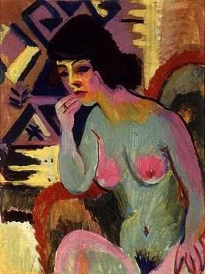 Wiegers: Zittend naakt (1920)