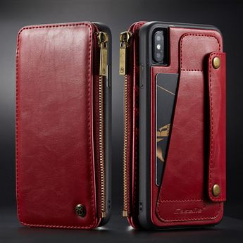 Leather Detachable 2 in 1 Zipper Purse Card Holder Case For iPhone
