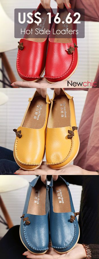 Big Size Soft Multi-Way Wearing Pure Color Flat Loafers.#women #womenshoes #outfits