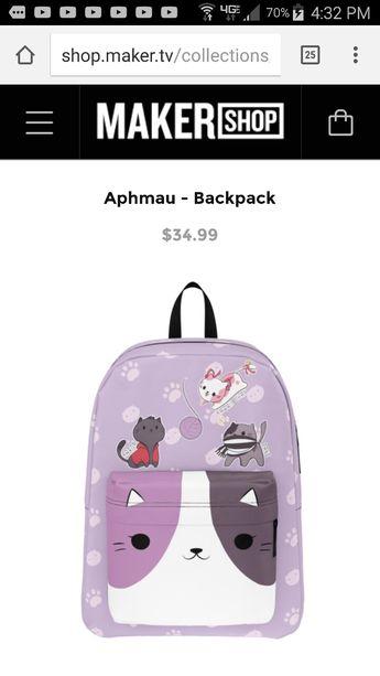 daef70116fb Aphmau Backpack And Lunchbox