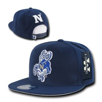 United States Naval Academy USNA Midshipmen Flat Bill Snapback Baseball Hat  Cap  fashion  clothing 22279df5e5c3