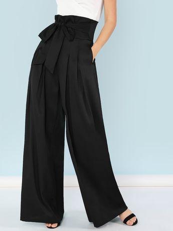 Pantalon ample ceinturé
