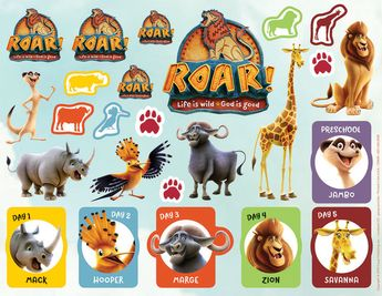 Sticker Sheets - Pack of 10 - Roar VBS by Group
