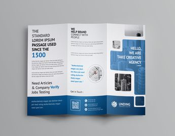 Stunning Corporate Tri-Fold Brochure Template - Graphic Templates