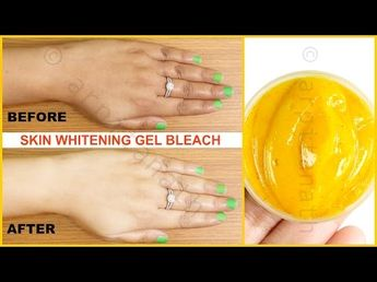 Instant Skin Whitening Gel Bleach (Results in LIVE Demo) || 100% Effective - YouTube
