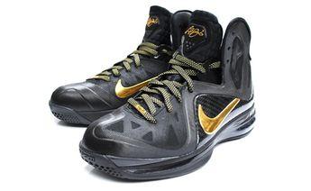 online store 636ed b218f Nike LeBron 9 P.S. Elite Black Mettallic Gold April 20, 2012  250