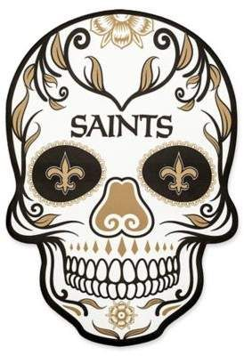 23d68114 NFL New Orleans Saints Outdoor Dia De Los Muertos Skull Decal