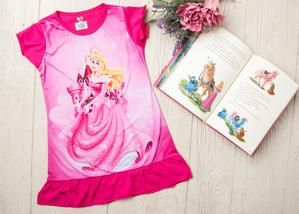 Pink Princess Night Gown/Shirt PJ's  Schools outs and summer is in! For all her slumber party needs, get these adorable princess inspired nightgowns. Pick from many her favorite princesses and she will dream happy with her favorite girl squad.