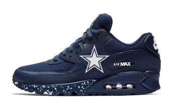 840a244a Bandana Fever Dallas Cowboys Big Print Custom Navy Nike Air Max Shoes