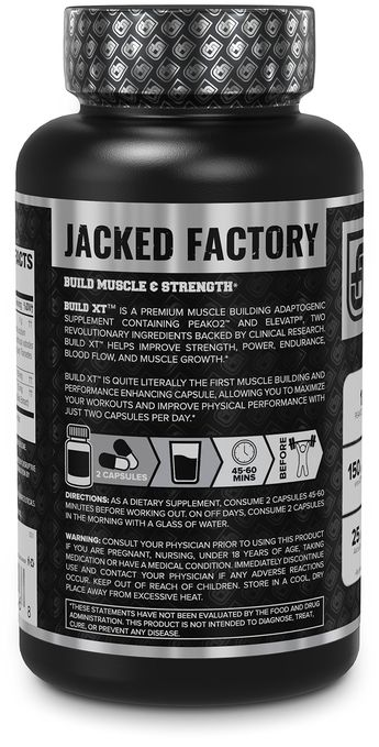 BUILDXT Muscle Builder  Daily Muscle Building Supplement for Muscle Growth and Strength  Featuring Powerful Ingredients Peak02 and elevATP  60 Veggie Pills *** You can get more details by clicking on the image. (This is an affiliate link)