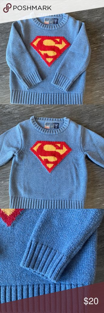 Junk Food Baby Gap Superman Sweater Size 3 years Cute Junk Food Baby Gap Superman logo blue sweater.  Size 3 years. Junk Food Clothing Shirts & Tops Sweaters
