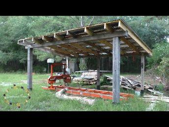 Ленточная пилорама Wood-Mizer LT15 на лесопилке