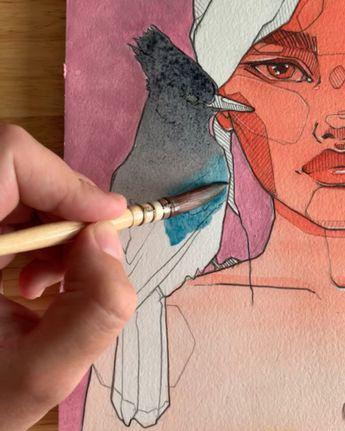 Tools: Polina Bright synthetic brush
