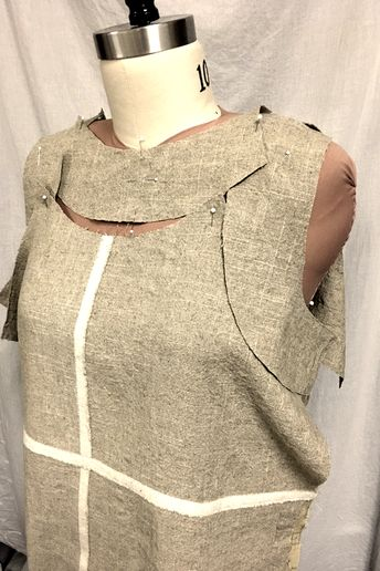 Draping your Dress Form No Rules Draping, Part 4: Create Pattern Pieces - Envision a garment, then use your dress form to drape and make a pattern. By Becky Fulgoni, Threads digital ambassador. #sewingtechnique #threadsmagazine #patternhack #dressform #3Dsewing #draping #handmade #sew #diy #fabric #sewingproject #sewinglove #sewingblogger #sewingaddict #makersgonnamake #design #fashionstudents #fashiondesign