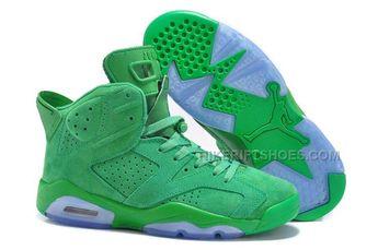 1797e6780f Macklemores Air Jordan 6 Green Suede PE men and women size