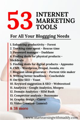 53 Digital Marketing Tools Every Internet Marketer Needs - Start Earning With Maddy