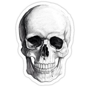 'Skull' Sticker by Ghøst