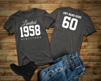 1958 Limited Edition 60th Birthday Party Shirt 60 Years Old