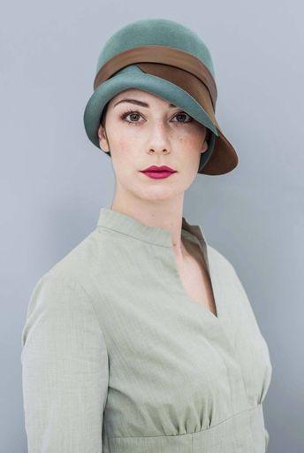 ea947c7c59a The Twist Cloche Hat Wool Felt by MaggieMowbrayHats on Etsy